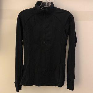 Lululemon black 1/2 zip pullover, sz 6, 64184